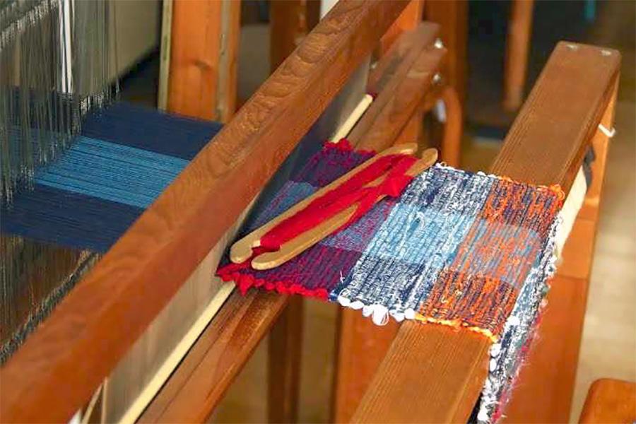 裂織りコースター制作ワークショップ